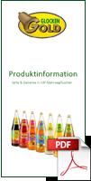 Produktfaltblatt Flaschen